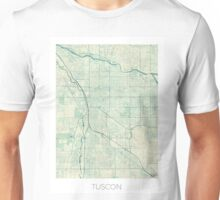 Tuscon Map Blue Vintage Unisex T-Shirt