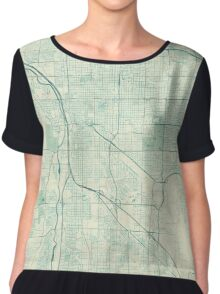 Tuscon Map Blue Vintage Chiffon Top