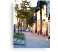 Blurred and out of focus image of streets Canvas Print