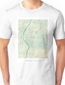Albuquerque Map Blue Vintage Unisex T-Shirt