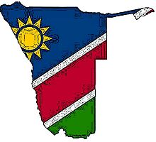 Namibia Map With Namibian Flag Photographic Print