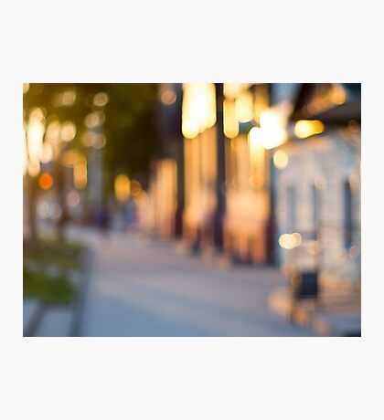 Out of focus image of streets and buildings Photographic Print