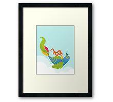 Bird and Girl Framed Print
