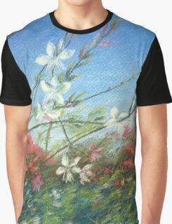 Wildflowers - blue horizon_Pastel painting Graphic T-Shirt
