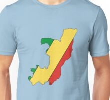 Congo Map With Flag Unisex T-Shirt