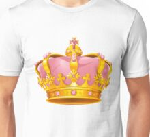 Golden Pink Crown Cute Unisex T-Shirt