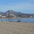 Beach in Malaga, Spain by Pawel J