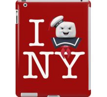 Ghostbusters - I Stay Puft NY - White on Dark iPad Case/Skin