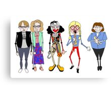 Psychoville characters inspired design Canvas Print