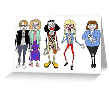 Psychoville characters inspired design Greeting Card