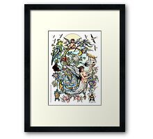 """The Illustrated Alphabet Capital  S  """"Getting personal"""" Framed Print"""