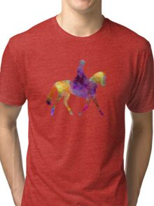 Horse show 04 in watercolor Tri-blend T-Shirt