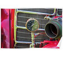 Fire Truck Gauge Poster