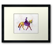Horse show 04 in watercolor Framed Print