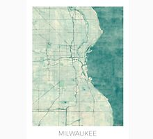 Milwaukee Map Blue Vintage Unisex T-Shirt