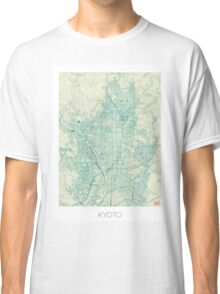Kyoto Map Blue Vintage Classic T-Shirt