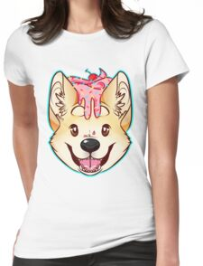 Cupcake Corgi Womens Fitted T-Shirt