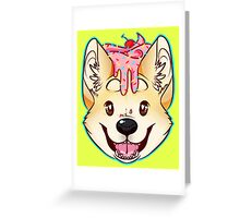 Cupcake Corgi Greeting Card