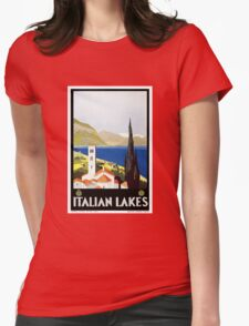 Vintage Italian Lakes Travel Womens Fitted T-Shirt
