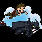 Hiccup and Toothless by justinbysma