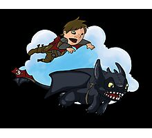 Hiccup and Toothless Photographic Print
