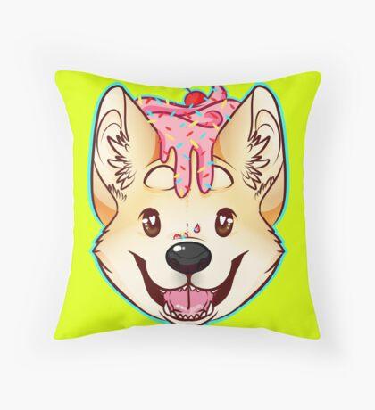 Cupcake Corgi Throw Pillow