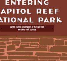 """Entering Capitol Reef National Park"" Sign, Utah, USA Sticker"