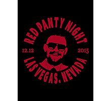 Conor Mcgregor, Red Panty Night Photographic Print