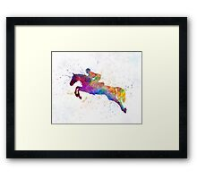 Horse show 06 in watercolor Framed Print