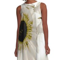 transparence flower in  grey A-Line Dress