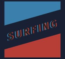 SURFING 3D _Square Kids Tee