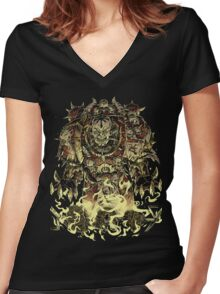 Champion of Chaos Women's Fitted V-Neck T-Shirt