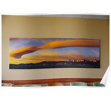 Sunrise On Lenticular Clouds (A 108 x 36 canvas print museum wrapped) Poster
