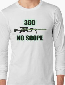 360 No Scope - Modern Warfare 2 Long Sleeve T-Shirt