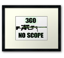 360 No Scope - Modern Warfare 2 Framed Print