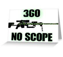 360 No Scope - Modern Warfare 2 Greeting Card