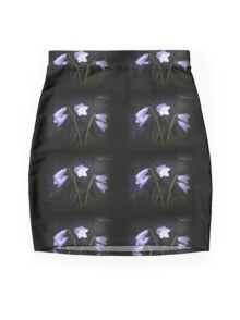 Bluebell flower photodesign on apparel and gifts Mini Skirt