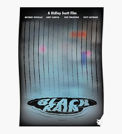 Black Rain - Puddle Poster