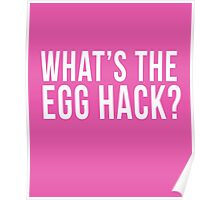 What's The Egg Hack? cool t-shirt  Poster