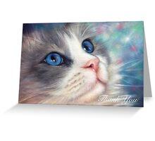 Ragdoll Cat Thank You Card Greeting Card