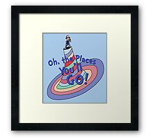Oh, the Places You'll GO! Framed Print