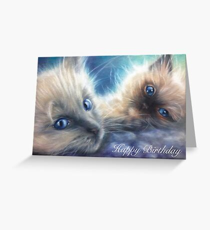 Ragdoll Kittens Birthday Card Greeting Card