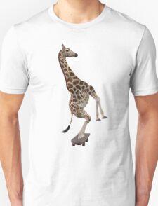 Giraffe On Skateboard Unisex T-Shirt