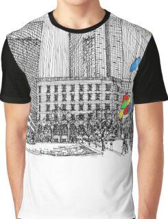 Sunny Day Cityscape Streetscape Graphic T-Shirt