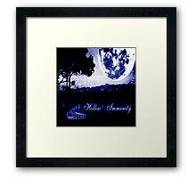 Hollow Immunity Stella Blue Framed Print