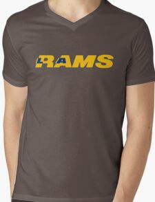 LOS ANGELES RAMS FOOTBALL RETRO Mens V-Neck T-Shirt