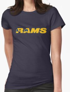 LOS ANGELES RAMS FOOTBALL RETRO Womens Fitted T-Shirt