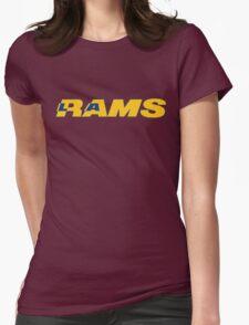 LOS ANGELES RAMS FOOTBALL RETRO Womens Fitted T-Shirt