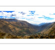 Panoramic Andes Mountains Sticker