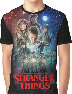 Stranger Things Black Graphic T-Shirt